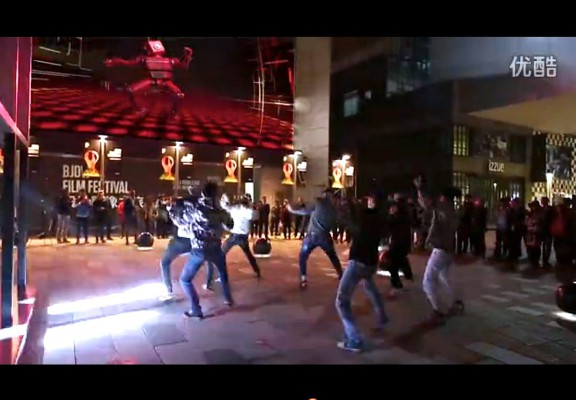 Audi e-tron dancers Sanlitun Taikoo Li Beijing