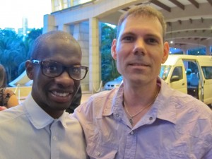 Troy Carter with Jarome Matthew of Pro Soul Alliance